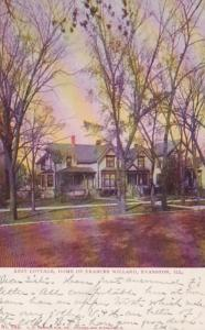 Illinois Evanston Rest Cottage Home Of Frances Willard 1906