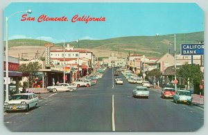 San Clemente CA Bank, Hardware, Drug Store~Neon Signs~1960s Station Wagons PC