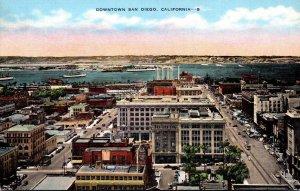California San Diego Downtown Aerial View