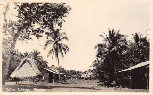 Panama Central America~Native Village~Sender Cruise on SS Pennsylvania~1933 RPPC