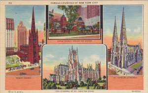 Famous Churches of New York City Curteich