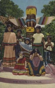 Seminoles in Sunny Florida, USA Indian, Indians Postcard Postcards  Seminoles...