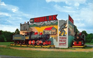 Tennessee Pidgeon Forge Rebel Railroad Entrance Sign