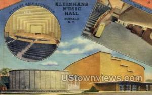 Kleinhans Music Hall Buffalo NY Unused