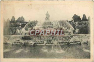 Old Postcard Park Chateau of Versailles Basin ltone great waters