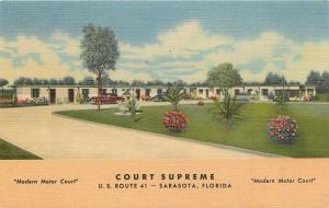 Court Supreme Sarasota Florida Fl Ringling old cars Tamiami Trail Postcard