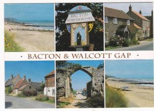 Postcard Norfolk Bacton & Walcott Gap 6 views