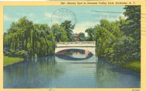 Beauty Spot in Genesee Valley Park, Rochester, NY, 1948 u...