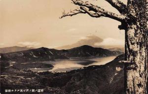 Hakone Japan Hakone Hotel Scenic View Real Photo Antique Postcard J77619
