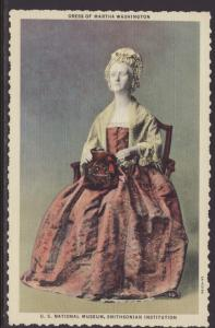 Martha Washington's Dress,Smithsonian,Washington,DC Postcard
