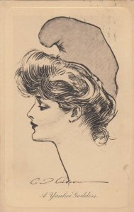 Dana Gibson ; Female Head Portrait A Yankee Goddess , 1907