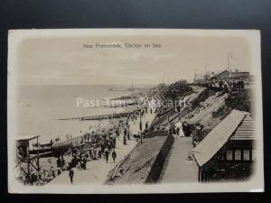 Essex: Clacton on Sea, NEW PROMENADE c1916 shows Beach entertainment RP Postcard