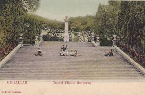 Stairs, General Eliott's Monument, Gibraltar, 1900-1910s