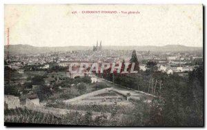 Clermont Ferrand Old Postcard General view