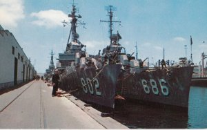 SAN DIEGO , California , 1950-60s ; Two Destroyers at dock