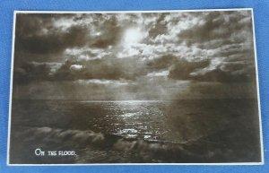 Vintage  Real Photo Postcard On The Flood  C1
