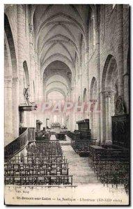 Old Postcard St Benoit sur Loire The Basilica Interior