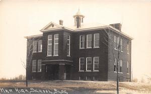E50/ Jersey Ohio Real Photo RPPC Postcard c1910 New High School Building