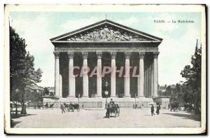 Old Postcard Paris La Madeleine