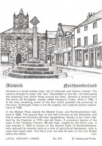 Postcard Local History Card, Alnwick, Northumberland by Gatehouse Prints