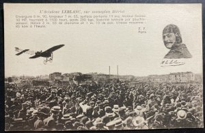 Mint RPPC Real Picture Postcard Early Aviation Leblanc In Bleriot Monoplane