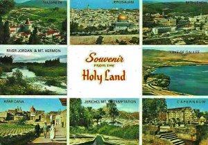 Holy Land River Jordan Mt Hermon Kfar Cana Nazareth Jerusalem Capernaum Postcard
