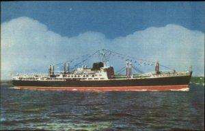 Compania Transatlantica Espanola Spanish Steamship M/N Covadonga Postcard
