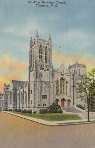 North Carolina Charlotte First Methodist Church 1956 Curteich
