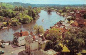 Vintage Oxfordshire Postcard, The River from Church Tower Henley on Thames GS8