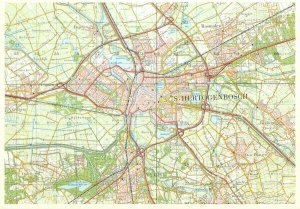 Postcard Netherlands ( MAP ) S- Hertogenbosch