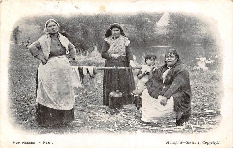 England Hop-Pickers in Kent, Traditional Costumes, Mockford Series 1906