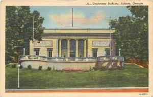 Atlanta Georgia~Cyclorama Building~Big Porch~1948 Postcard