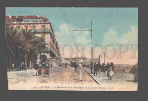 082560 ALGERIA Alger Le Boulevard de la Republique Vintage PC