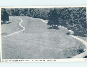 1940's PARK SCENE Peebles In Meigs - Near Chillicothe & Cincinnati Ohio OH H2800