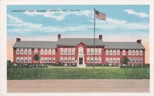 GRANITE, Illinois, 1910-1920s; Community High School