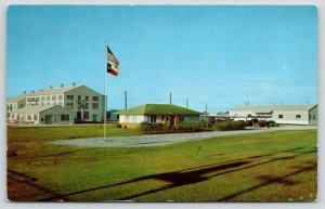 Beaumont Texas~Texas Gulf Sulfur Company Buildings~Offices~1950s Cars~Postcard
