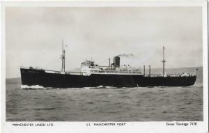 Manchester port Real Photo Postcard 01.21
