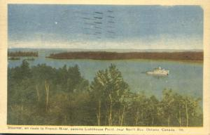 Steamer en route to French River - near North Bay, Ontario, Canada pm 1947