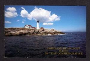 ME PORTLAND Lighthouse MAINE Commemorative Postcard PC
