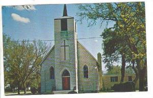 Exterior, St. Pauls Catholic Church, Clay Center, Kansas, 40-60s