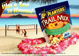 Advertising Planters Trail Mix Fun In The Sun Sweepstakes Win A Trip To Hawaii