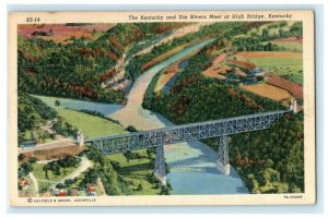 1953 Kentucky and Dix Rivers High Bridge Posted Vintage Postcard