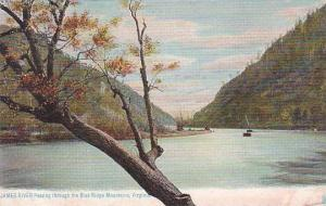 Virginia Richmond James River Passing Through The Blue Ridge Mountains 1906