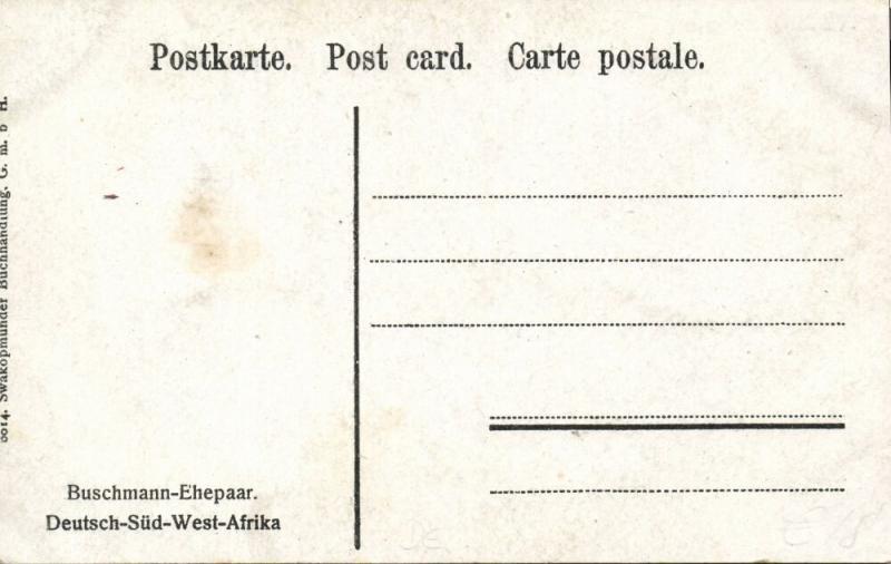 german south west africa, Native Bushmen San Saan Couple, Buschmann (1910s)