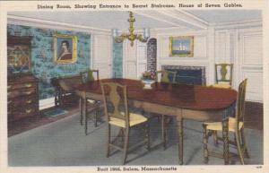 Massachusetts Salem The Dining Room House Of Seven Gables Built 1668
