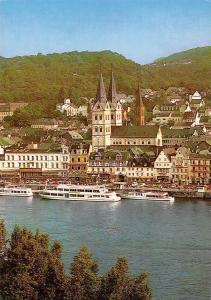 Boppard am Rhein Rheinansicht River Boats Church Kriche General view