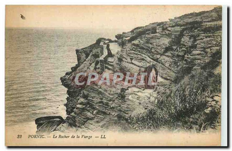 Old Postcard Pornic The Rock of the Virgin