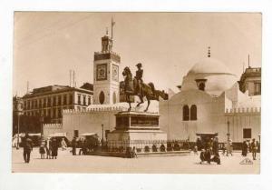 RP, Statue Du Duc d´Orleans Et Mosquee Djemaa-Djedid, Alger, Algeria, Africa...