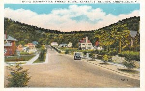 ASHEVILLE, NC North Carolina KIMBERLY HEIGHTS STREET SCENE  Homes~Car  c1920's