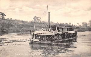 Northern Nigeria S.W. Ndoni (cargo boat) on the River Niger, Ship, River